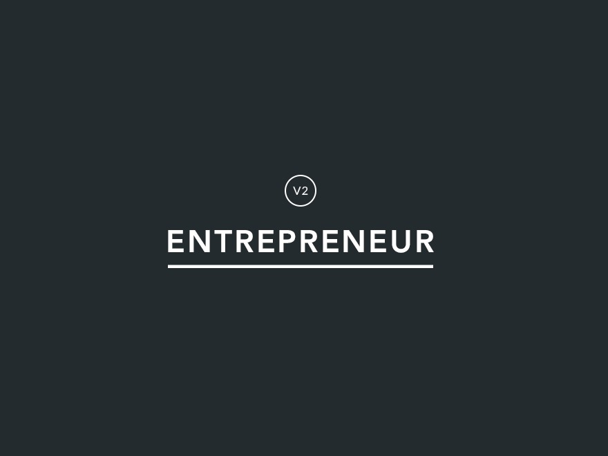 WordPress theme Entrepreneur