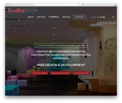 WordPress theme Salient - thecreativeninja.ca