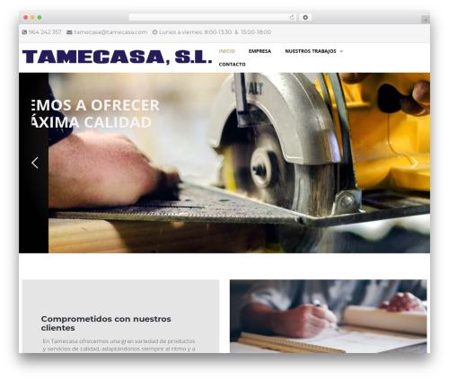 WordPress website template TheBuilt - tamecasa.com