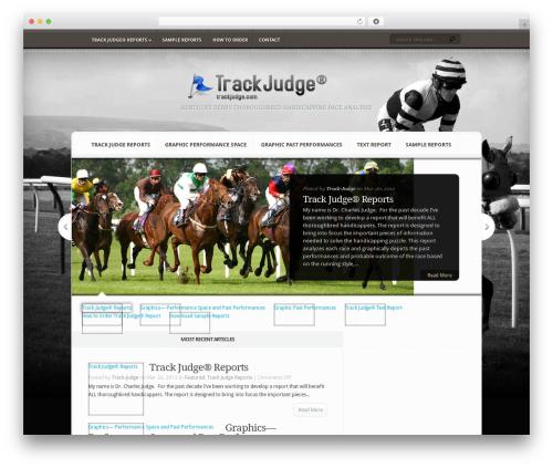 Aggregate best WordPress template - trackjudge.com