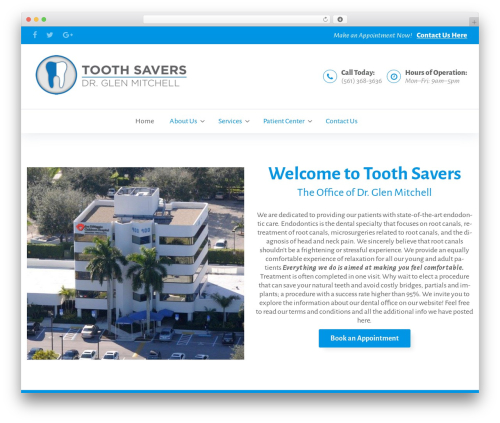 BeDENTIST WordPress theme - toothsavers.net