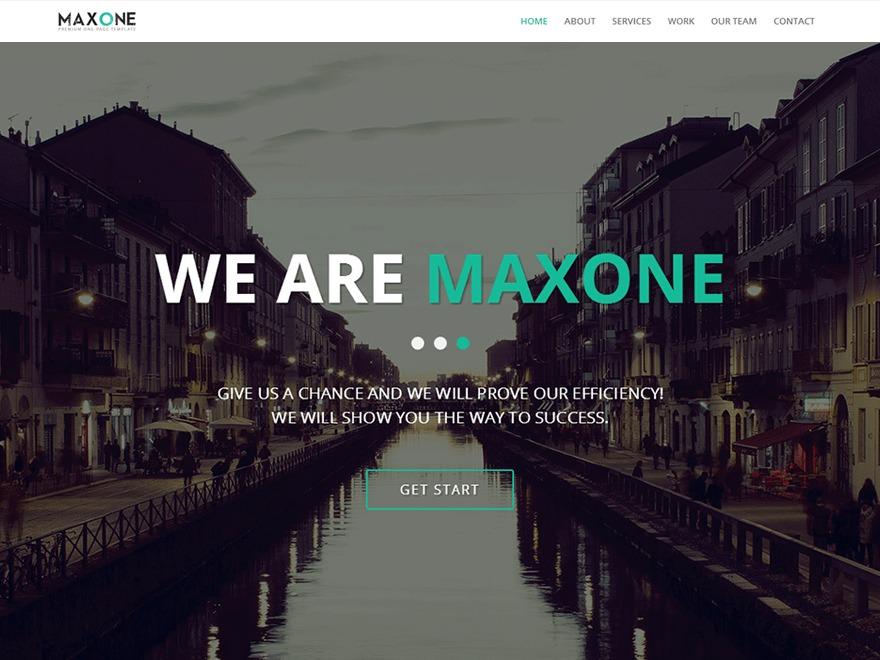 Best WordPress template MaxOne Child