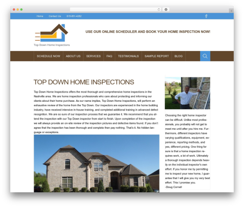 Best WordPress theme ProStore - topdownhomeinspections.com
