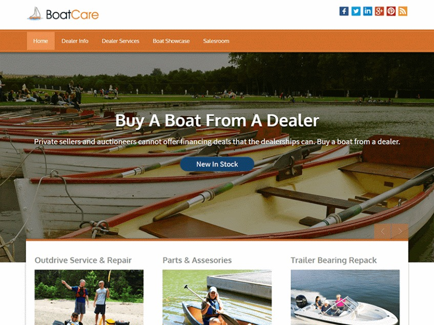 BoatCare Pro WordPress theme image