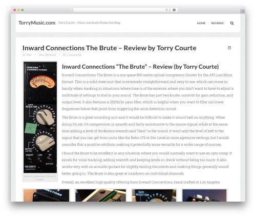 Breeze by Bluth Company WordPress blog template - torrymusic.com