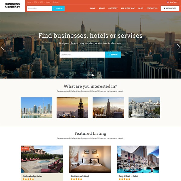 BusinessDirectory business WordPress theme