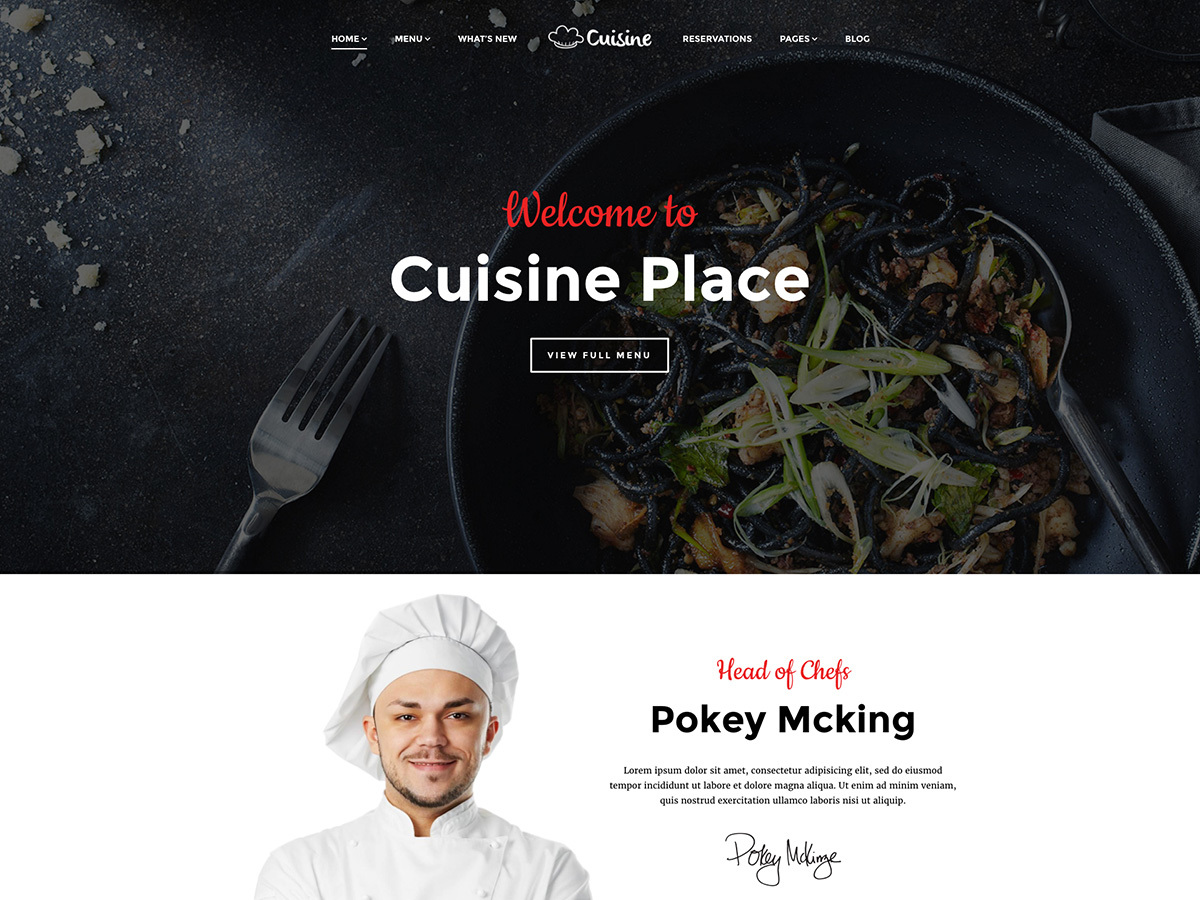 Cuisine Child WordPress theme