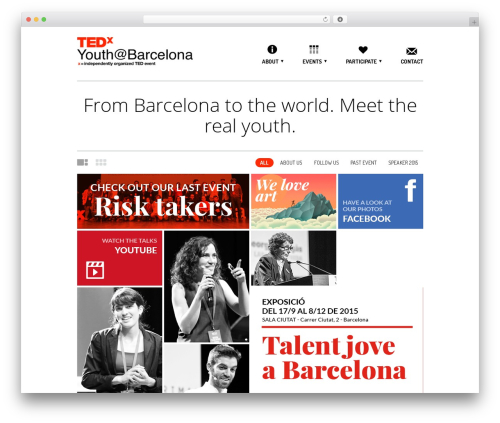Daisho best WordPress theme - tedxyouthbarcelona.com