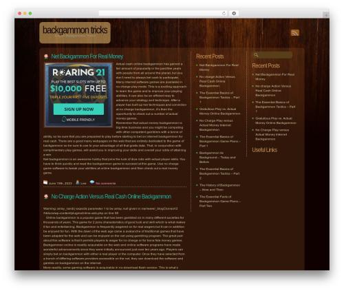 Dark Wood theme WordPress - trustandsecurity.com