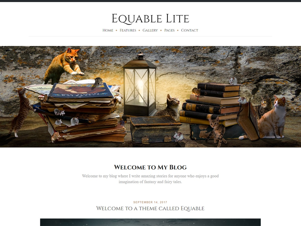 Equable Lite WordPress blog template