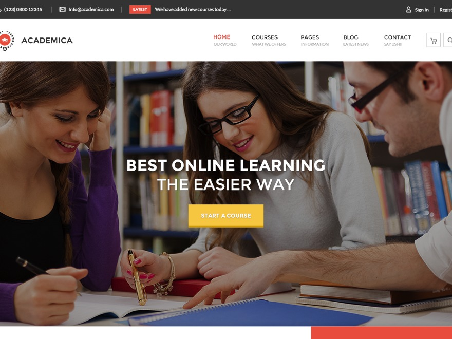 HT Academica WordPress theme
