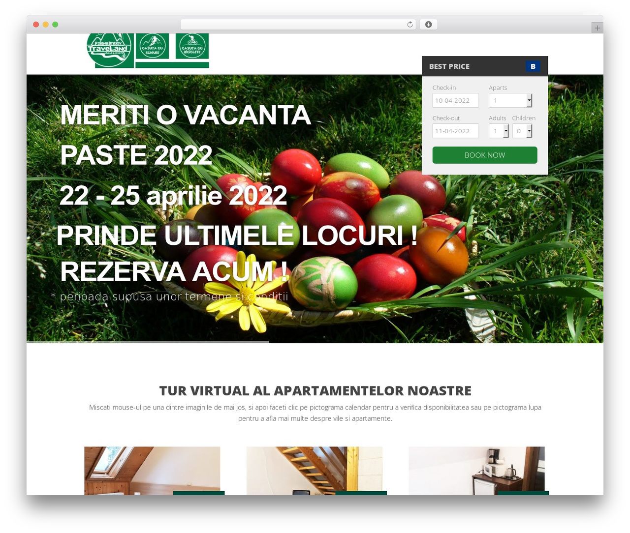 Nation WordPress page template - traveland.ro