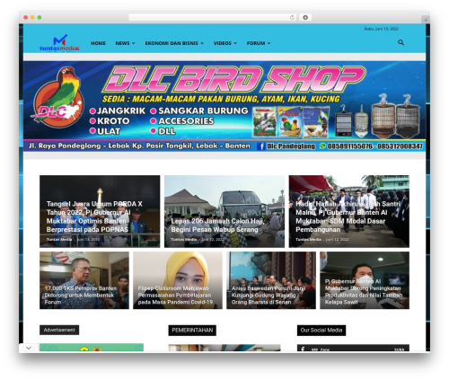 Newspaper WordPress news theme - tuntasmedia.com