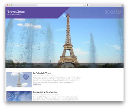 Plum free website theme - travelzette.com