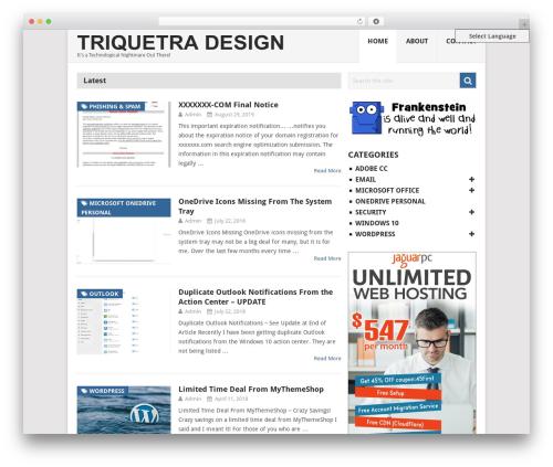 WordPress mts-wp-in-post-ads plugin - triquetra-design.com