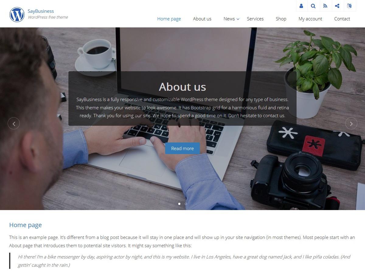 SayBusiness best free WordPress theme
