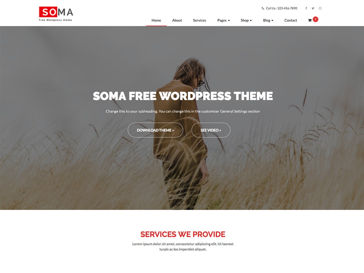 Somalite company WordPress theme