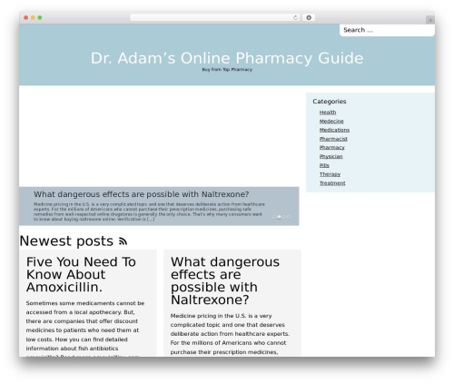 The Columnist theme WordPress free - top-pharmacy-guide.com