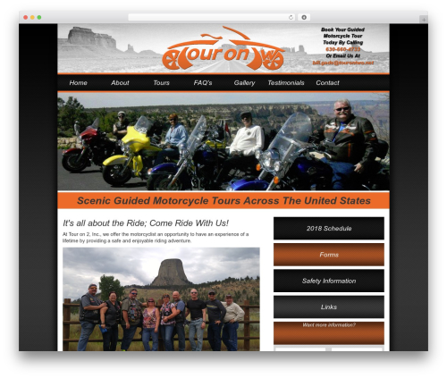 Tour WordPress template free download - tourontwo.com