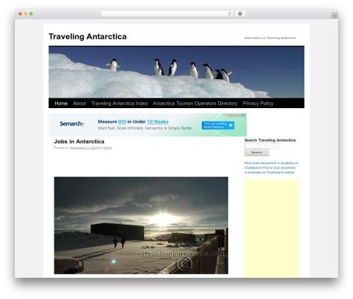 TwentyTen Child WordPress theme - travelingantarctica.com