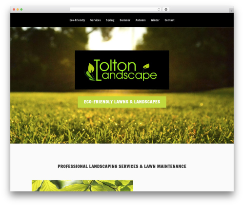 Vertex landscaping WordPress theme - toltonlandscape.com