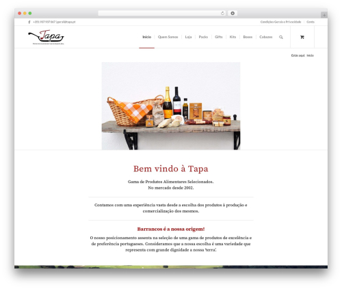 WordPress template Enfold - tapa.pt