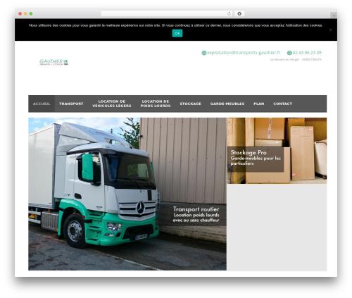 WordPress theme Gauthier Transports WP - transports-gauthier.fr