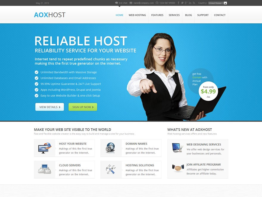 WP template Aoxhost Child Theme