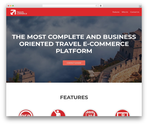 Zerif Lite best hotel WordPress theme - travel-commerce.com
