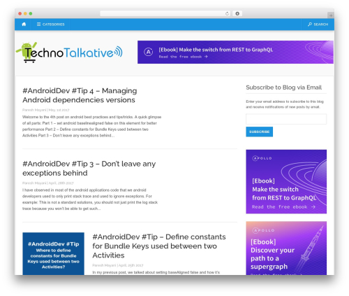 Codilight WordPress theme - technotalkative.com