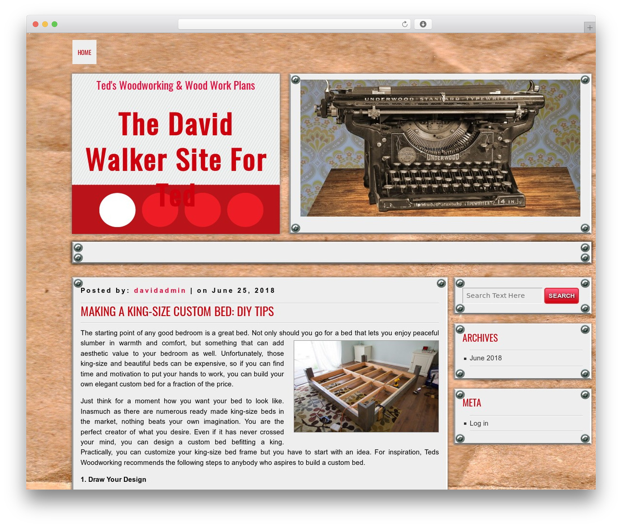DISCUSSION WordPress template free download - thedavidwalkersite.com