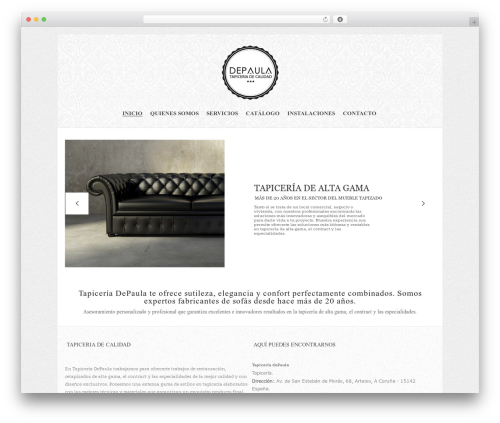 Maya Shop WordPress ecommerce template - tapiceriadepaula.com