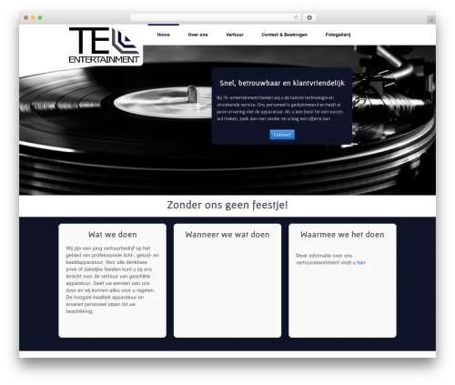 Responsive template WordPress free - te-entertainment.nl