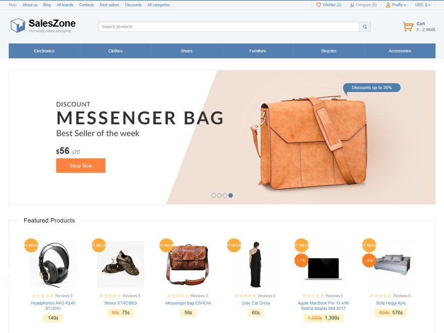 SalesZone best WooCommerce theme