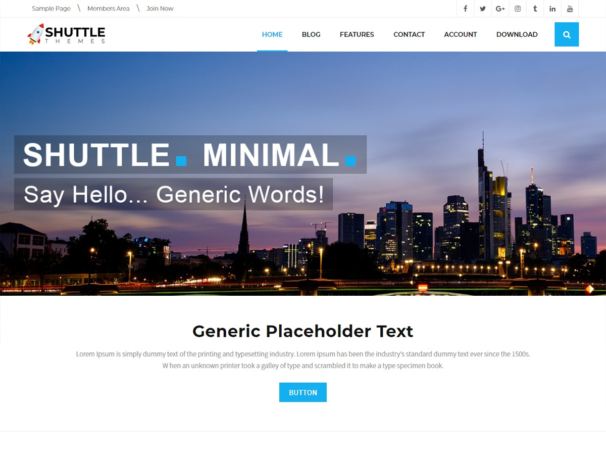 Shuttle Minimal business WordPress theme