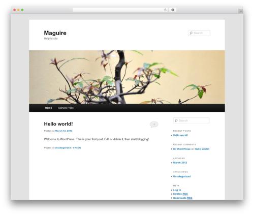 Twenty Eleven best free WordPress theme - themaguire.co.uk