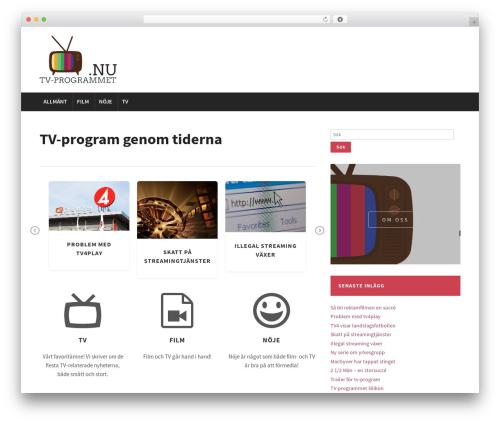 WordPress template Modena - tvprogrammet.nu
