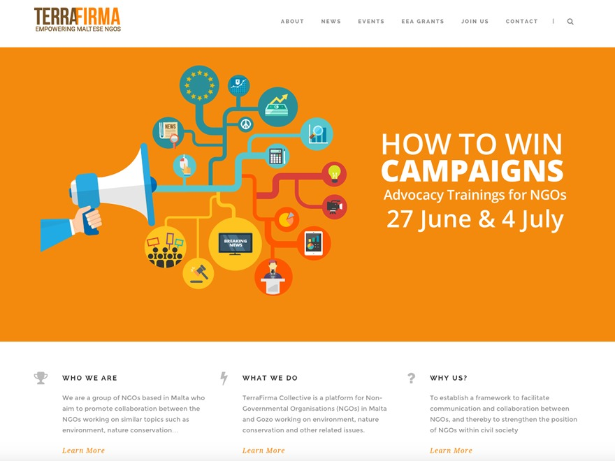 WordPress template Terra Child