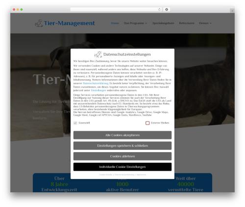 WP template Divi - tier-management.de
