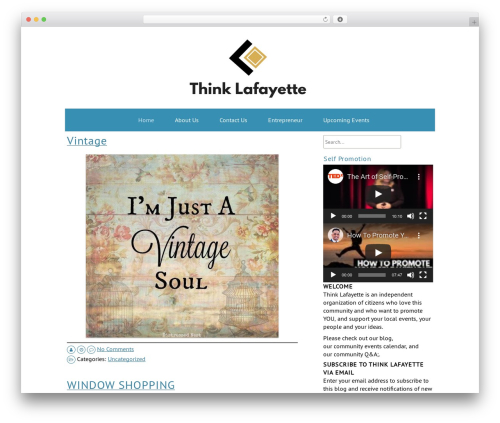 ZenWater WordPress theme - thinklafayette.com