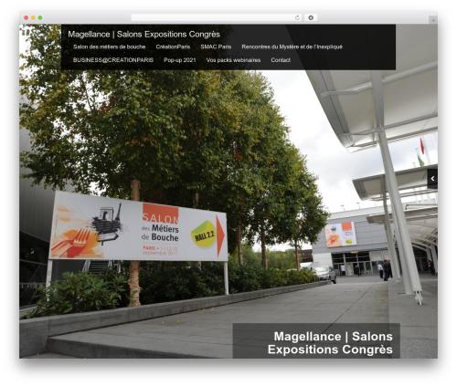 Black Label WordPress theme design - magellance.fr