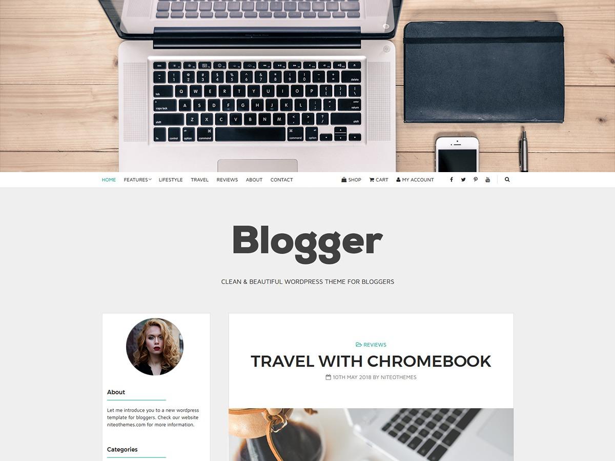Blogger Light WordPress template for photographers