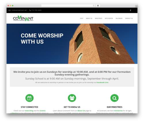 Church Suite WP template - covenantcrc.net