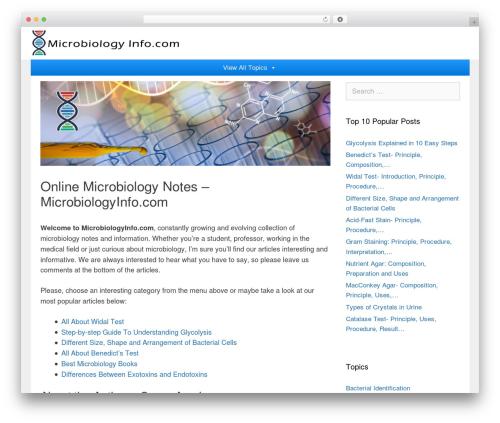 GeneratePress WordPress theme - microbiologyinfo.com