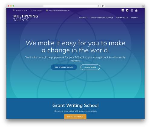 Mesmerize PRO premium WordPress theme - multiplyingtalents.com
