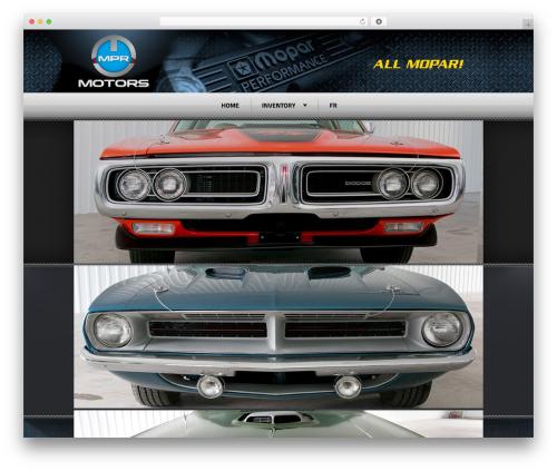 Radial Premium Theme automotive WordPress theme - mprmotors.com