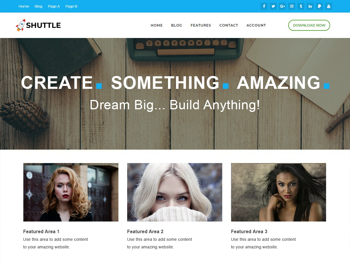 Shuttle pureBusiness WordPress blog template