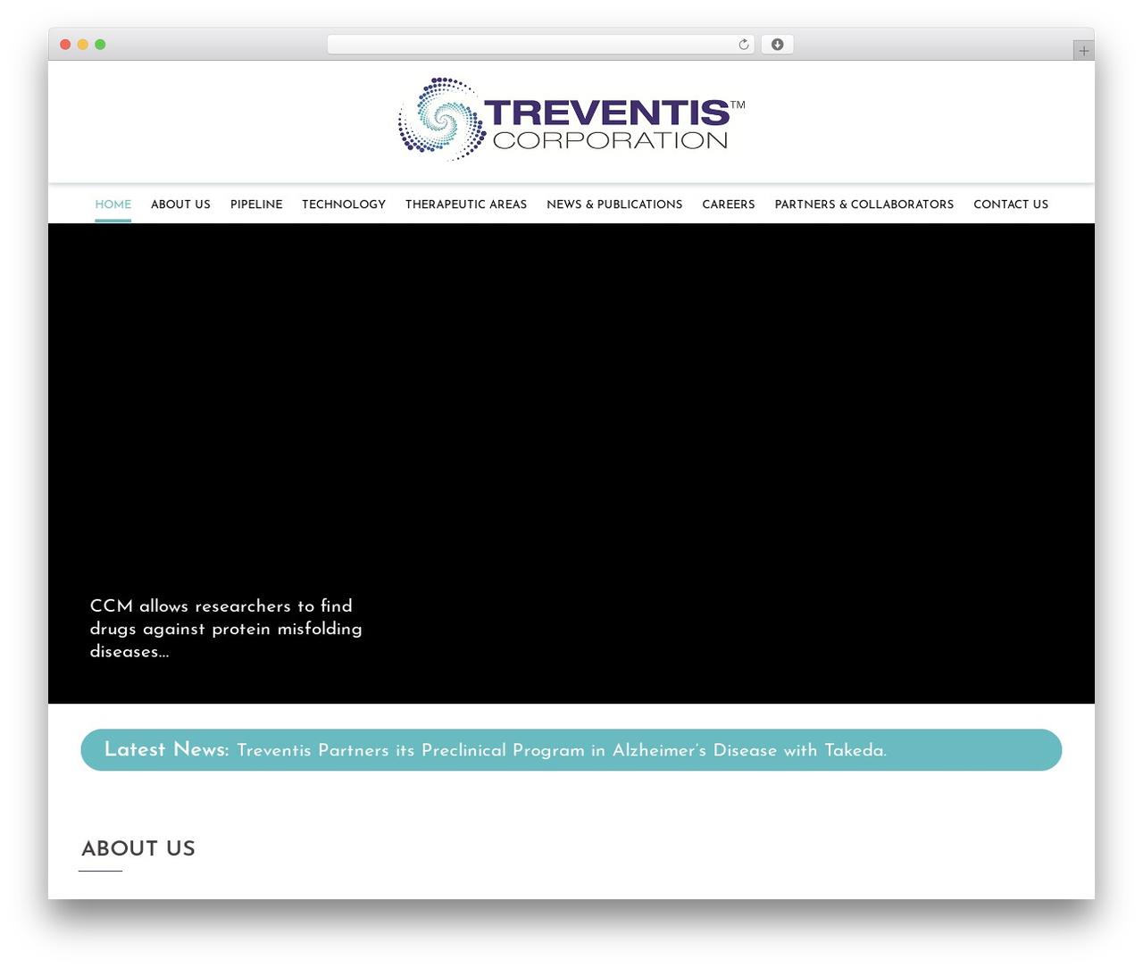 Sydney best WordPress template - treventis.com