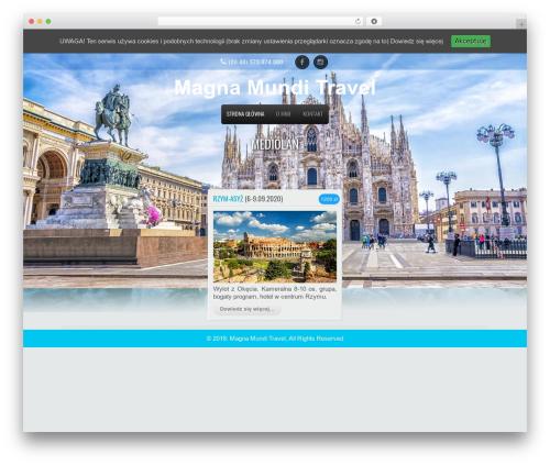 Travel Extend WordPress travel theme - magnamundi.pl