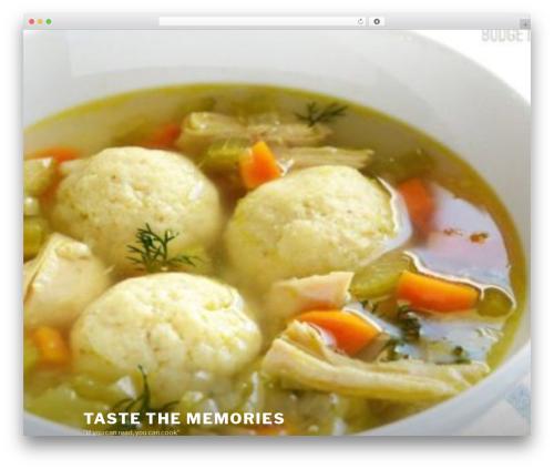 Twenty Seventeen WordPress page template - tastethememories.com